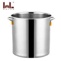 60cm big size stock pot 2.0mm stainless steel 201 soup barrels restaurant pot metal large bucket with handles