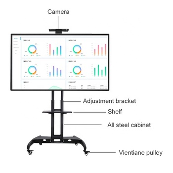 Smart board elektronische digitale draagbare whiteboard dual systeem multi touch screen connect OPS computer
