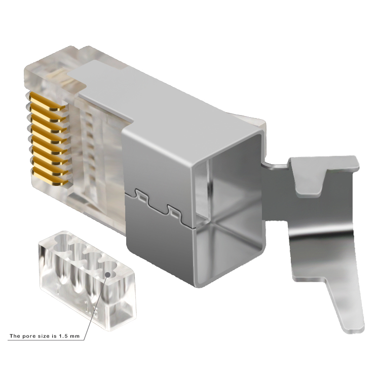 Factory sale high quality cat7 shielded rj45 Ethernet patch cable plug 8pin <strong>10</strong> pin 8p8c cat7 rj45 connector