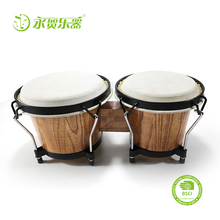 High-End Muziekinstrument Accessoires <span class=keywords><strong>Drum</strong></span> Set Bongo Beginners Dubbele Houten <span class=keywords><strong>Drum</strong></span>