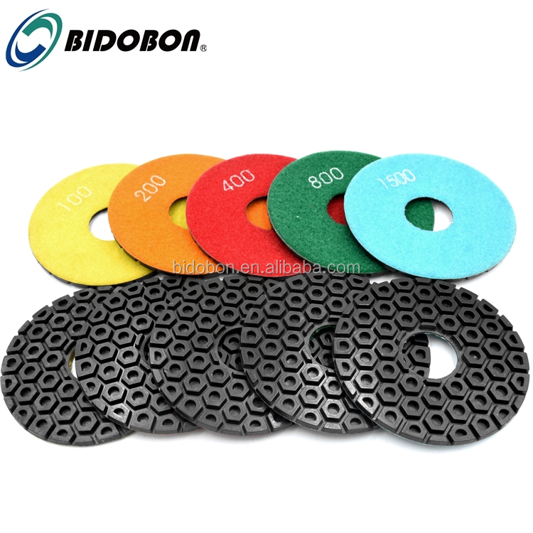 Wholesale 5inch Hexagon Diamond Resin Floor Polishing Pads for concete Marble Granite
