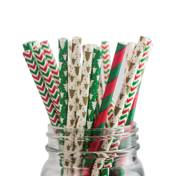 Wholesale Christmas straw Disposable Juice drink straw Drinking Straws for bar