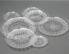 Plastic Plate Plastic Plastic Plate Manufacturer Food Grade Crystal Wedding Disposable Plastic Cutlery PS Dishes Plate