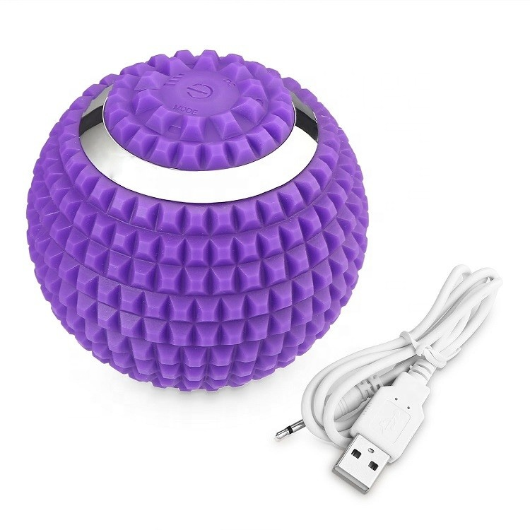 High intensity yoga muscle recovery electric shock massage roller ball fitness