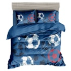New kids bedding sets 100% cotton /home new style cartoon printed cotton bed sheets for boys