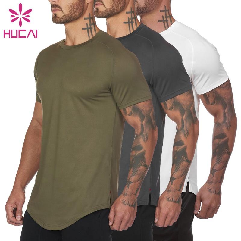 कस्टम डिजाइन अपने खुद के स्पैन्डेक्स कपास उच्च बनाने की क्रिया खेल आकस्मिक mens कसरत फिटनेस सूखी फिट जिम टी शर्ट