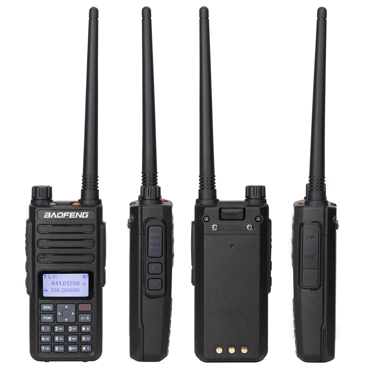 Baofeng DM 860 ดิจิตอล walkie talkie ชั้น 1 และ 2 Tier II แบบ Dual Slot DMR Digital/Analog DM 1801 HAM Two WAY วิทยุ