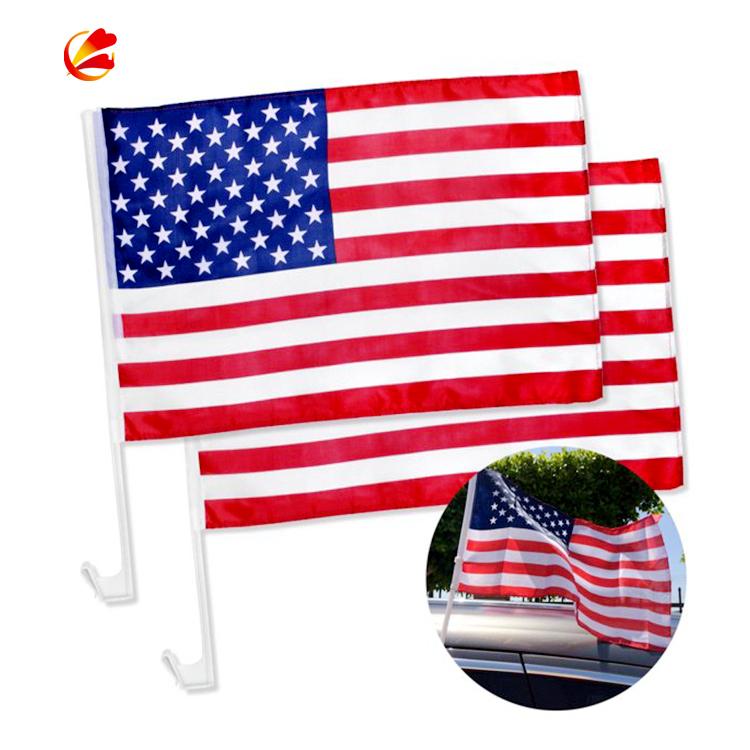 จีนขายส่งอเมริกัน Mini Car window FLAG diplomatic รถธง