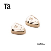 TANAI zinc alloy Handbag accessories high end metal hardware decorative cord ends for leather bag