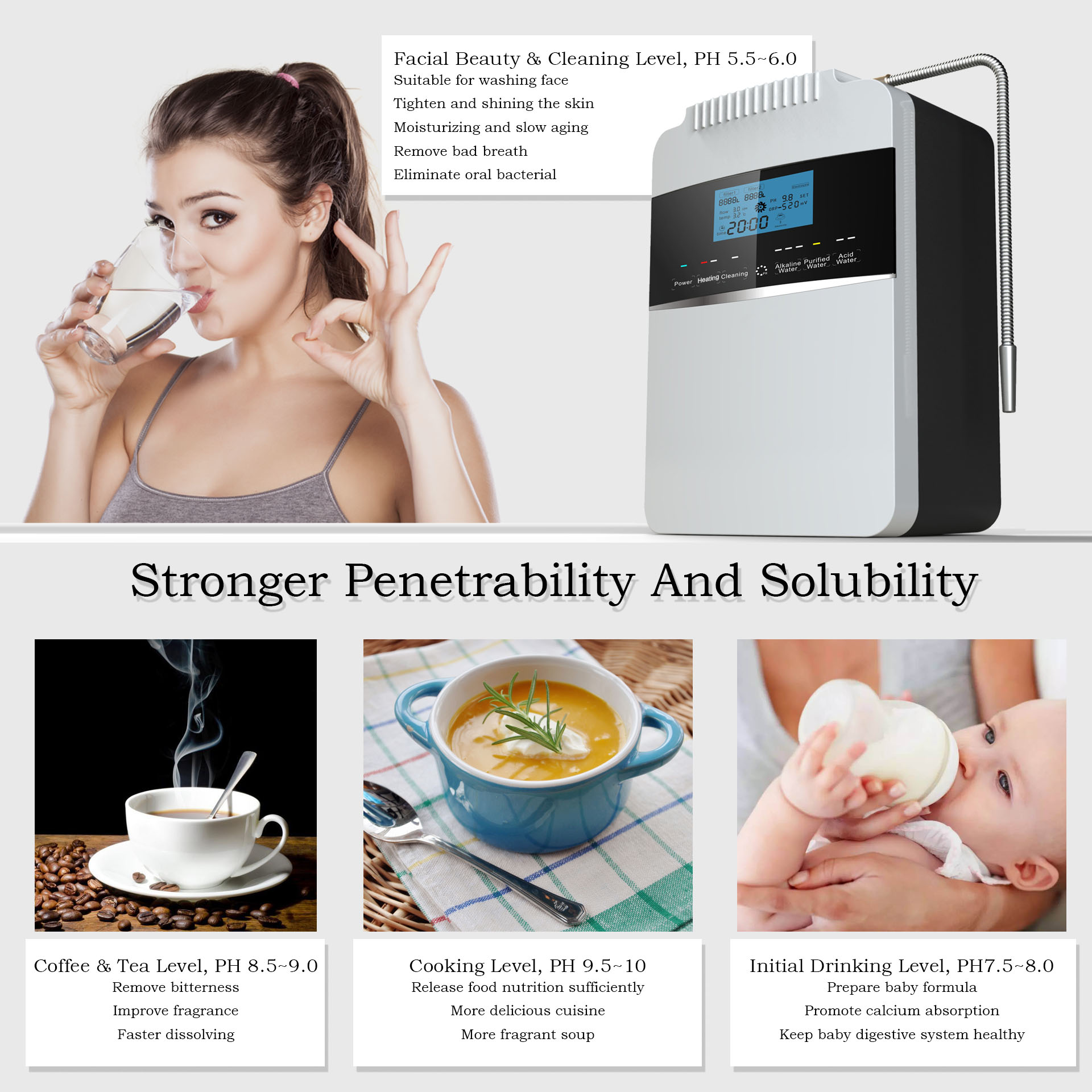 factory price water ionizer reviews series for health-10