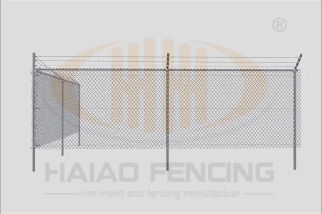 OEM 공장 디자인 아연 도금 체인 링크 울타리 60x60