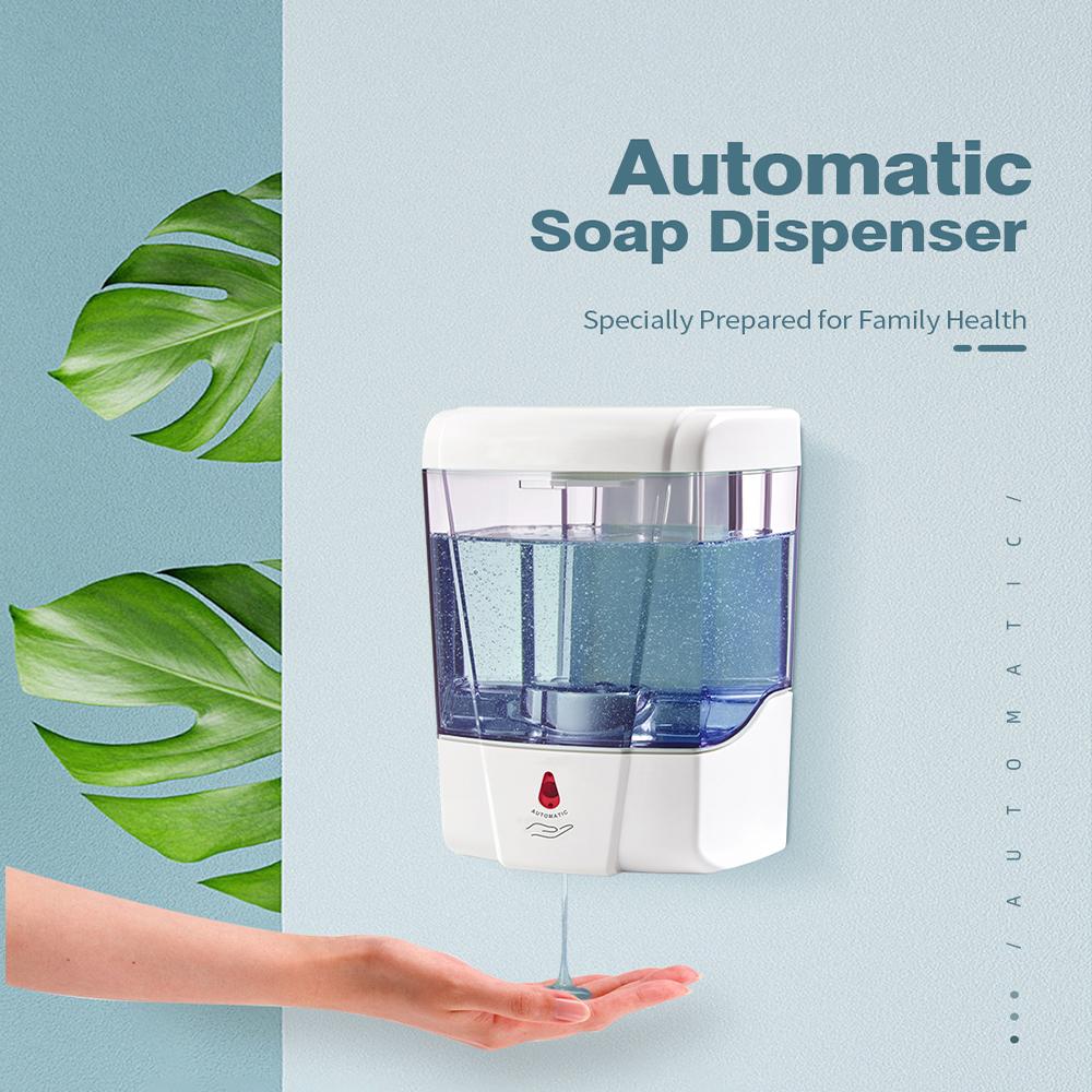 Bán Buôn Xà Phòng Dispenser Tự Động Cảm Ứng Dispenser Xà Phòng Tự Động ABS Xà Phòng Tự Động Dispenser
