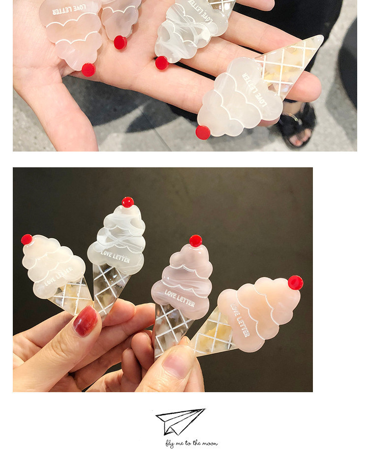 Factory direct supply laser sequins starfish ice-cream bb clips girls students headgear clips