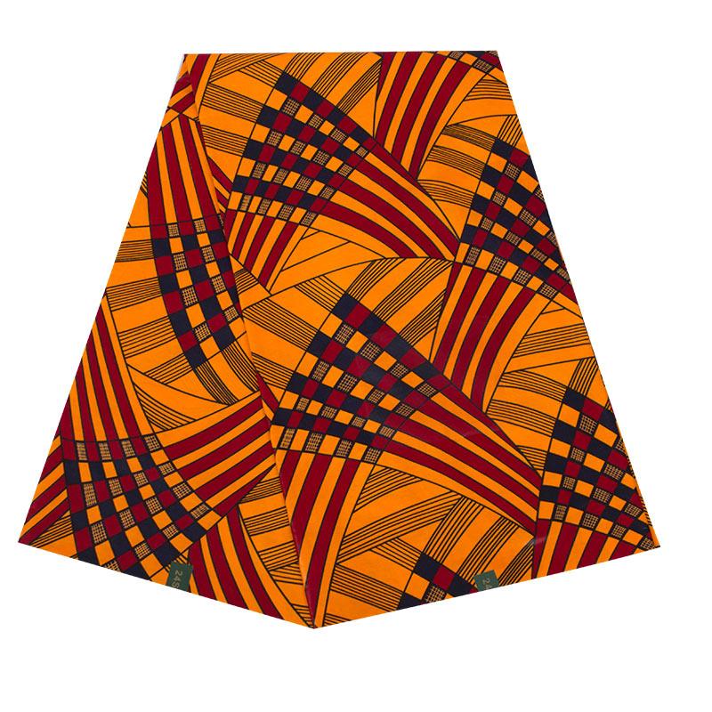 24FS1346 最新デザインアフリカワックスコットン卸売アフリカの布プリント 6 ヤード本物のワックス生地