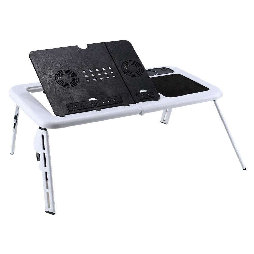 Folding <strong>Laptop</strong> Desk Adjustable Computer <strong>Table</strong> Stand Foldable <strong>Table</strong> Cooling Fan Tray For Bed Sofa Notebook