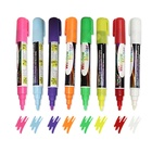 Hot selling bulk 6mm tip white ink water erasable chalk markers