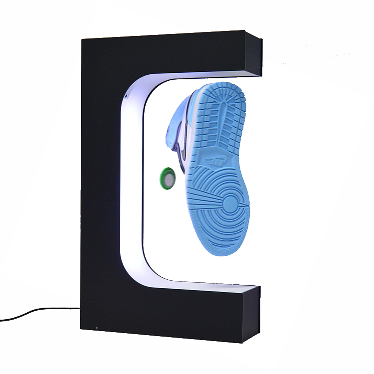 Fashion levitating magnetic floating shoes display <strong>stand</strong> and shop display for shoes fancy sever shoes display unit