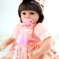 New children's good friends silicone realistic reborn baby dolls lovely small plastic doll