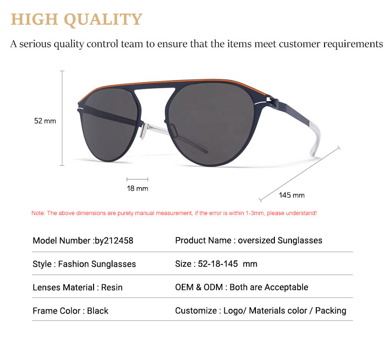 Latest New Design Polarized Customized Pilot Metal Optical Eyeglasses