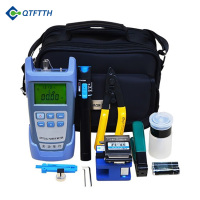 Fiber Optic Ftth Tool Kit with Optical Power Meter FC-6S Fiber Cleaver and Visual Fault Locator