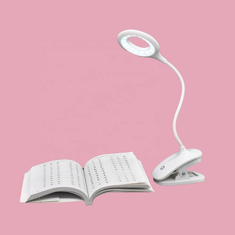 Amazon 2019 USB power 5W Led Desk <strong>lamp</strong> USB Foldable Clip Bed Reading Book Night Light LED table <strong>lamp</strong>