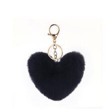 Сумка для девочек, подвесное автомобильное кольцо для ключей, милые брелки в виде сердца, женская сумка, аксессуары, искусственный мех, Раду...(Китай)