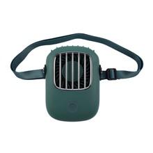 Подвесной шейный вентилятор NewLazy People, ручной маленький веер с широкоугольным ветром, портативные мини-вентиляторы с usb-зарядкой, 2020(China)