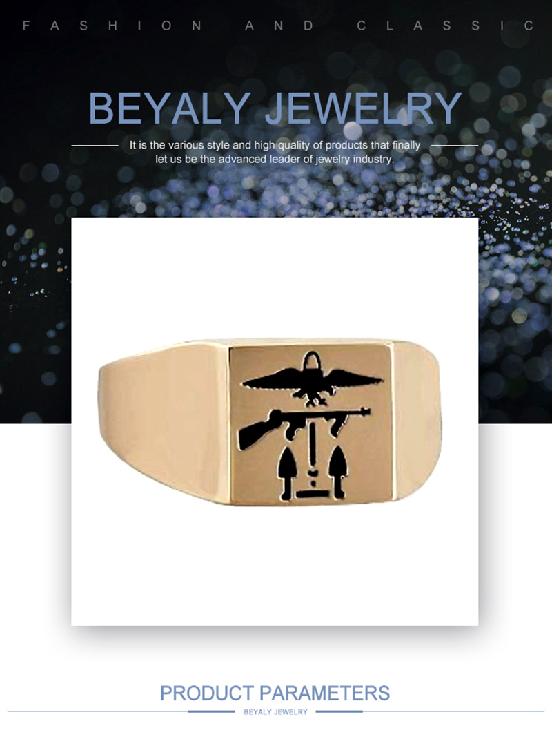 product-Stainless Steel Military Signet Ring Custom Jewellery-BEYALY-img