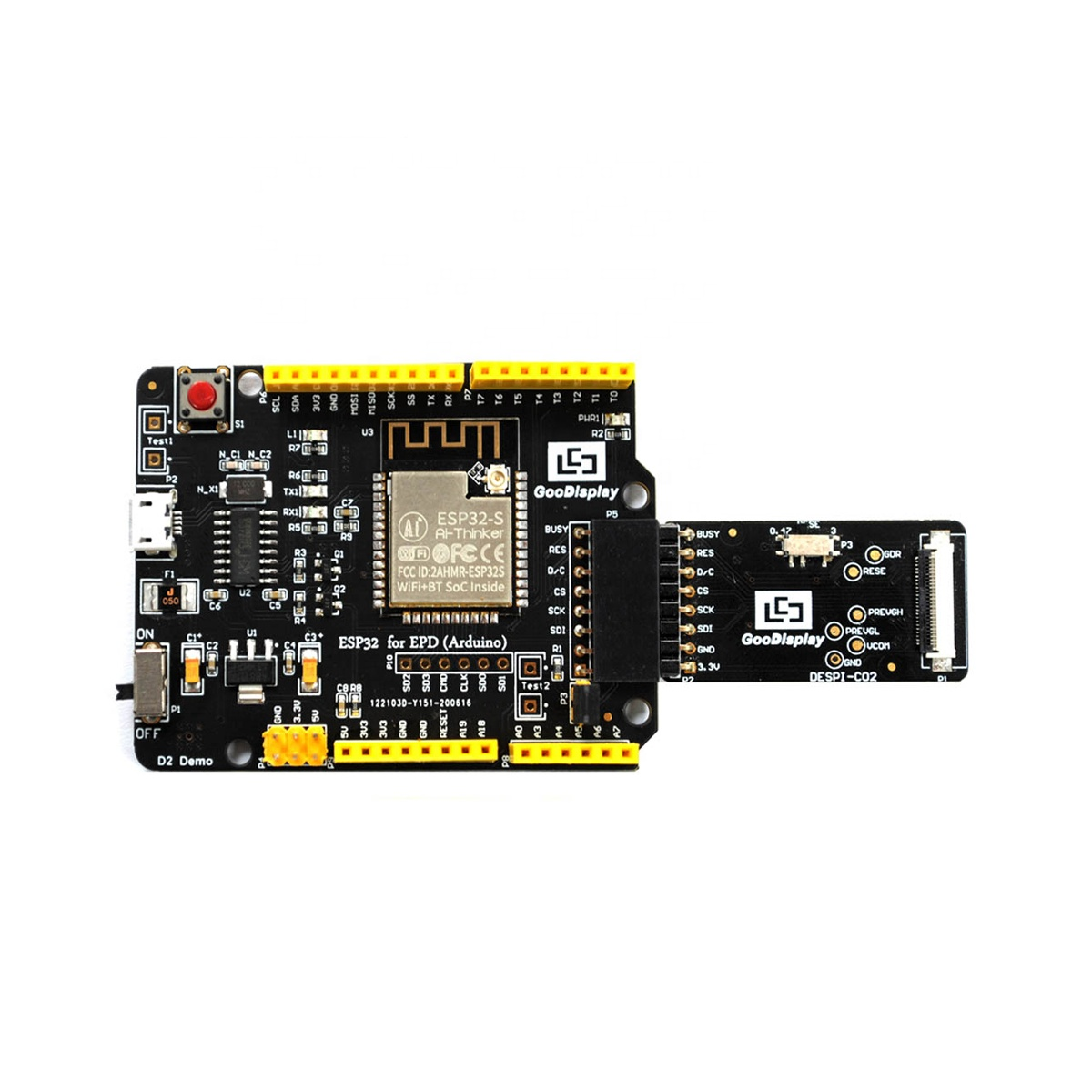 goodisplay driving board ESP32-02 for SPI innterface e-ink display module