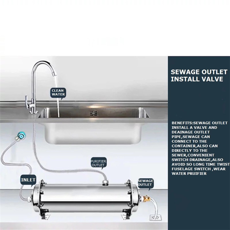Stainless Steel Kitchen UF Membrane Water Purifier 4000L Ultra Filtration Water System