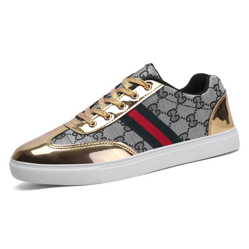 Wholesale Fashion Flat Bottom Tenis Men's Casual Shoes Designer Men Shoes Luxury Brand Shoes