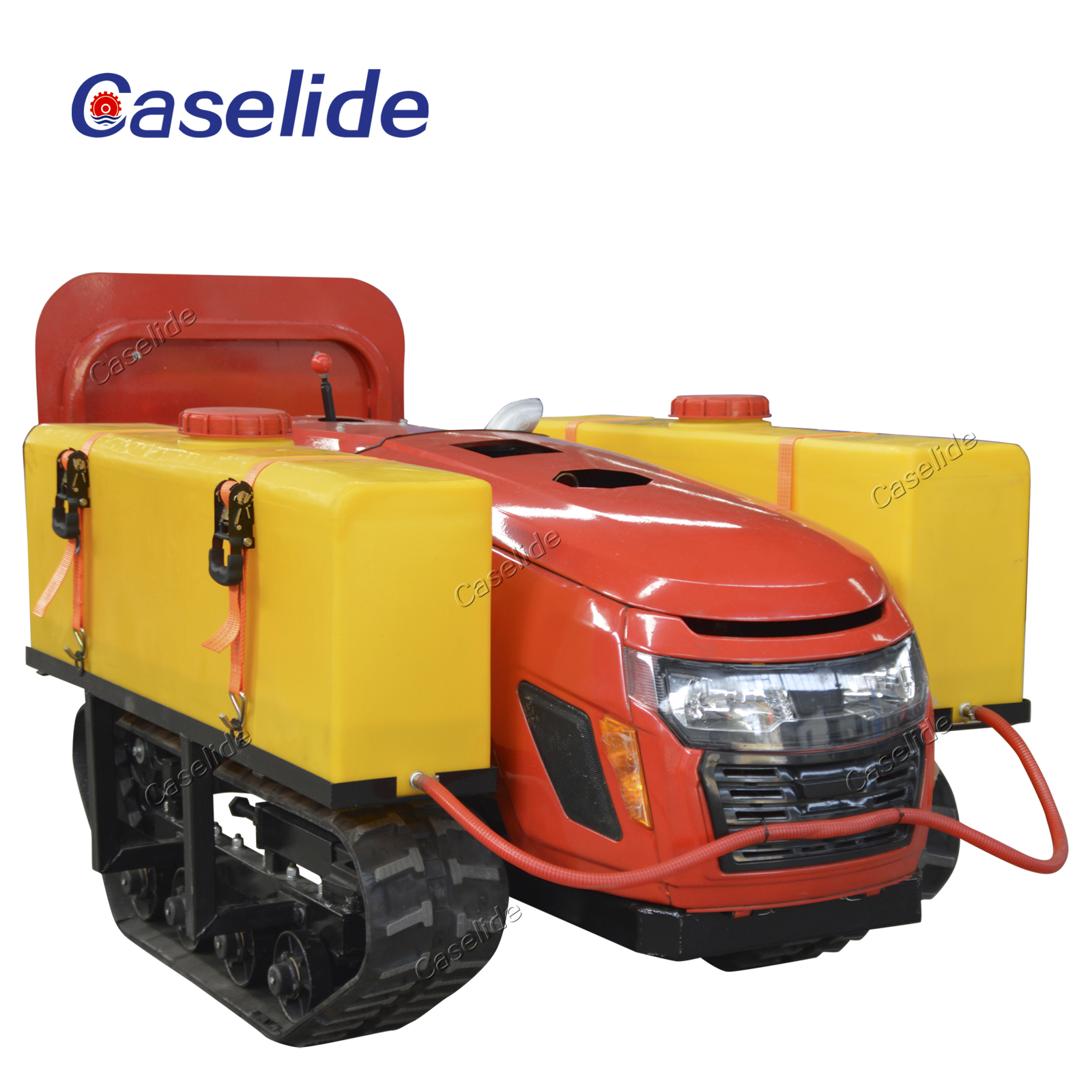 Small agricultural crawler diesel pesticide sprayer