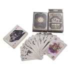 100% 54pcs Waterproof Playing Cards PVC Poker Card Deck 100% Plastic