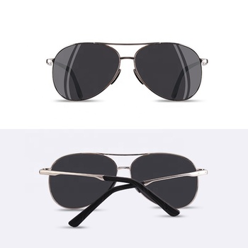 Men Classic Pilot Sunglasses Polarized Aviation Frame fashion sunglasses For Male Driving UV400 Protection