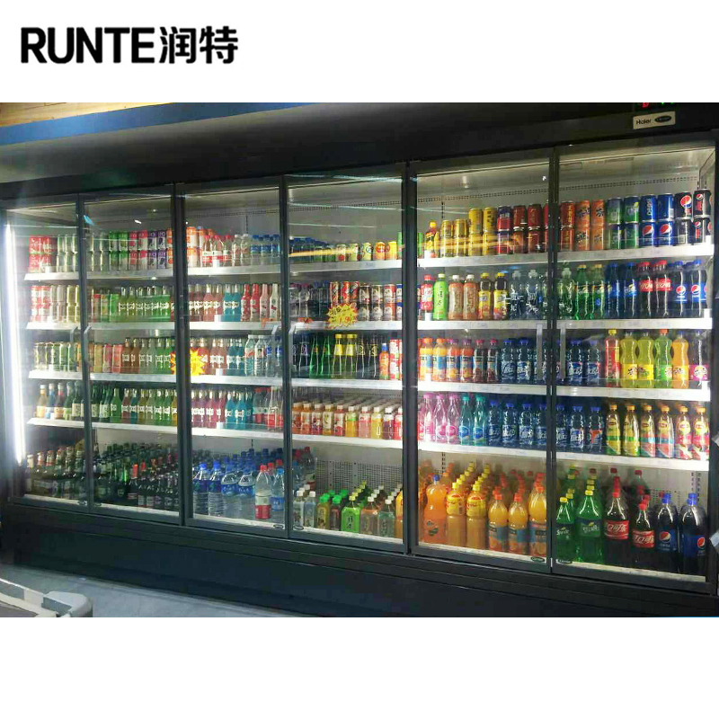Commercial refrigerator / display glass door fridge / commercial fridge
