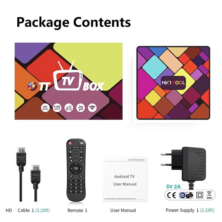 Asher los últimos productos en el mercado HK1COOL Rockchip RK3318 Quad Core 4GB 64GB 5G Wifi 4K smart TV Android Box