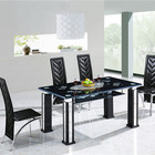 Dining Dinning Table Dining Room Furniture Modern Designs Dinning Table Luxury Glass Top Dining Table And 6 Chairs Set