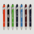 customise business company logo brand promotion gift rubber touch screen stylus pen