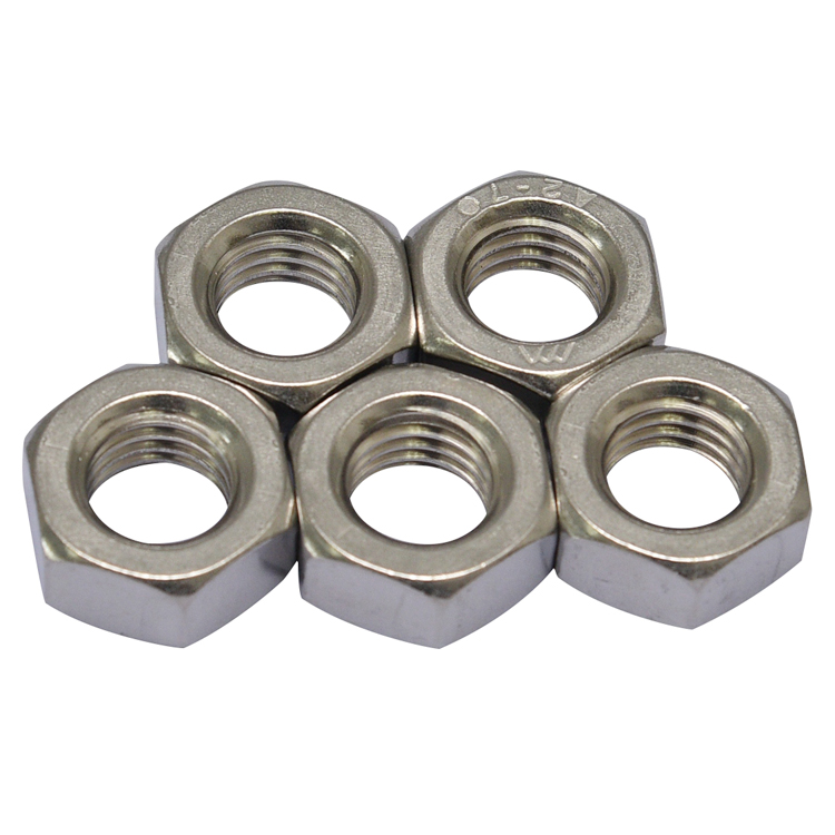 Hot Selling Good Quality DIN 439 Hex Jam Nuts