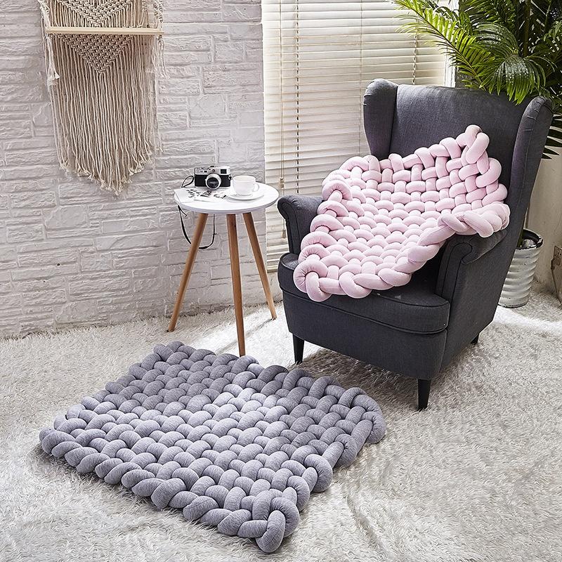 85*70cm handmade knitting kids room decor baby activity mat sleeping mat baby rug