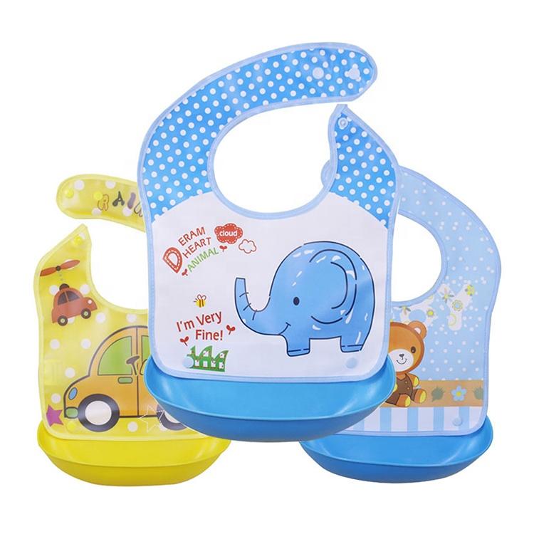Оптовая продажа Детские силиконовые нагрудники-нагрудники для малышей-BPA бесплатно детский нагрудник с едой