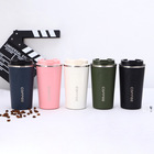 Coffee Mug Wholesale Custom 14oz And 17oz Stainless Steel Double Wall Insulated Coffee Travel Mug Cups With Lid