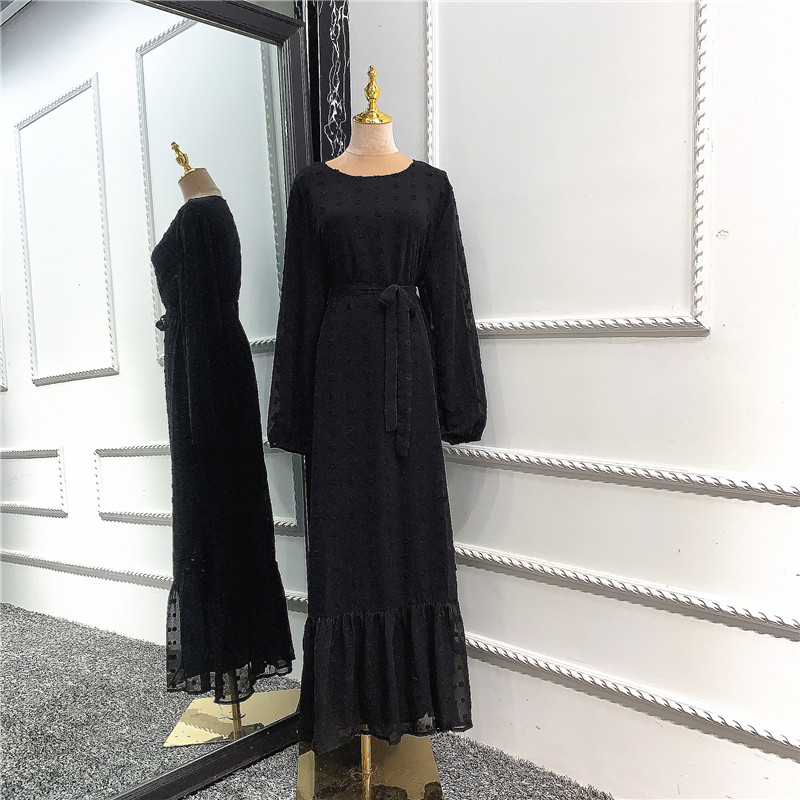 Wholesale European American Islamic clothing EID Abaya Dubai Turkey Muslim fashion new dress