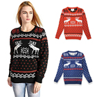 Brand New Winter Christmas Sweater Women Coat Warm Long Sleeve Sweater Ladies Jumper Pullover Womens Tops Blouse Hot