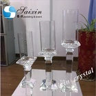 Hot set tall crystal Hurricane candle holder for wedding table centerpieces