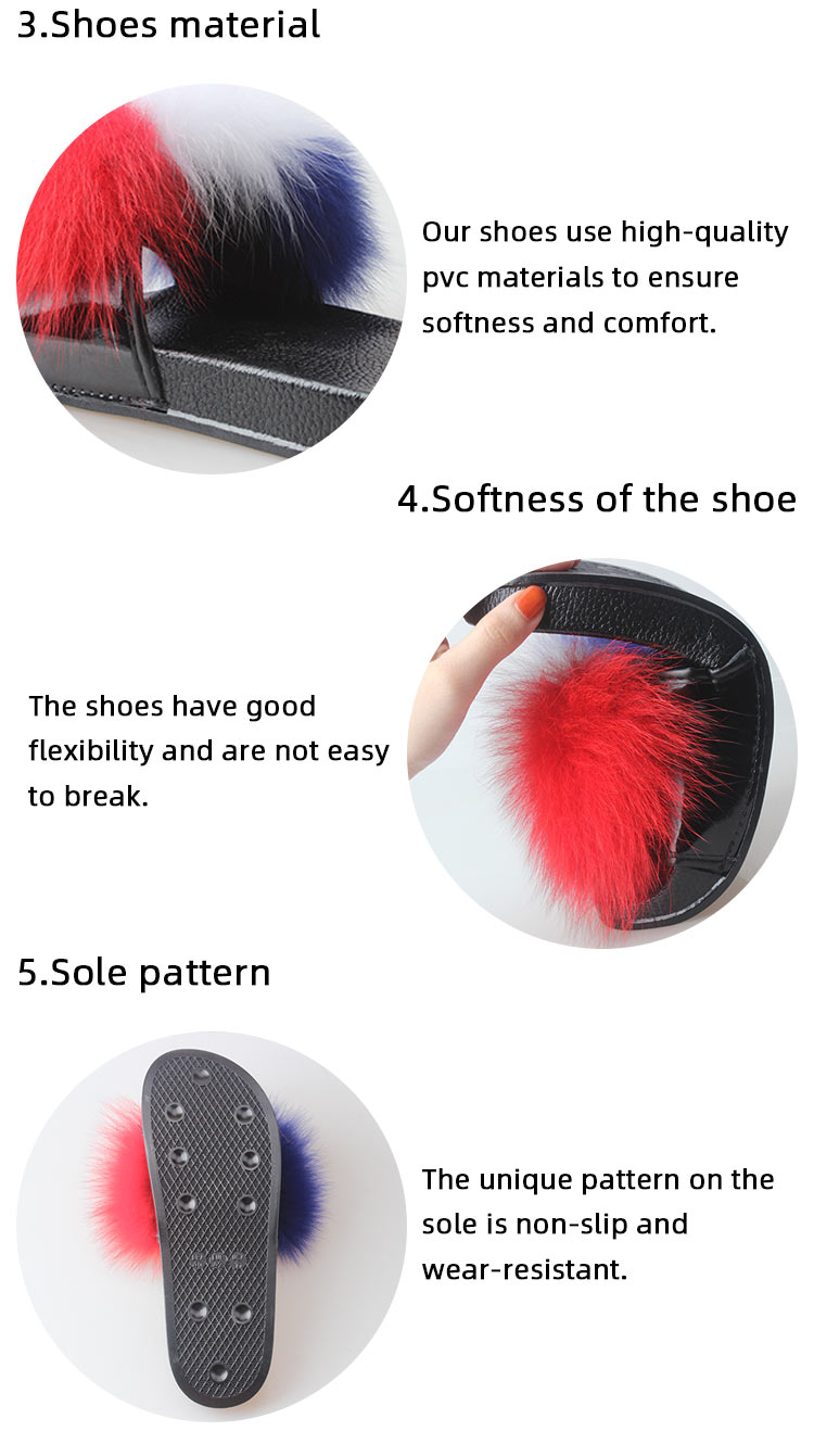 Fashion Mule Sandals Indoor Wholesale Womens Fur Slippers with Heels