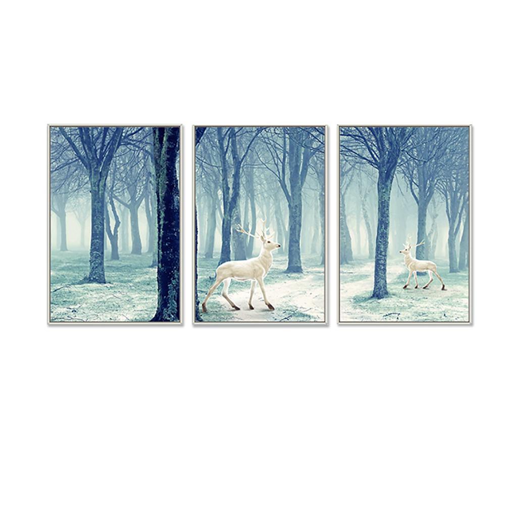 Картина в оправе страны чудес из 3 предметов, украшение из холста, Роскошный домашний декор для спальни
