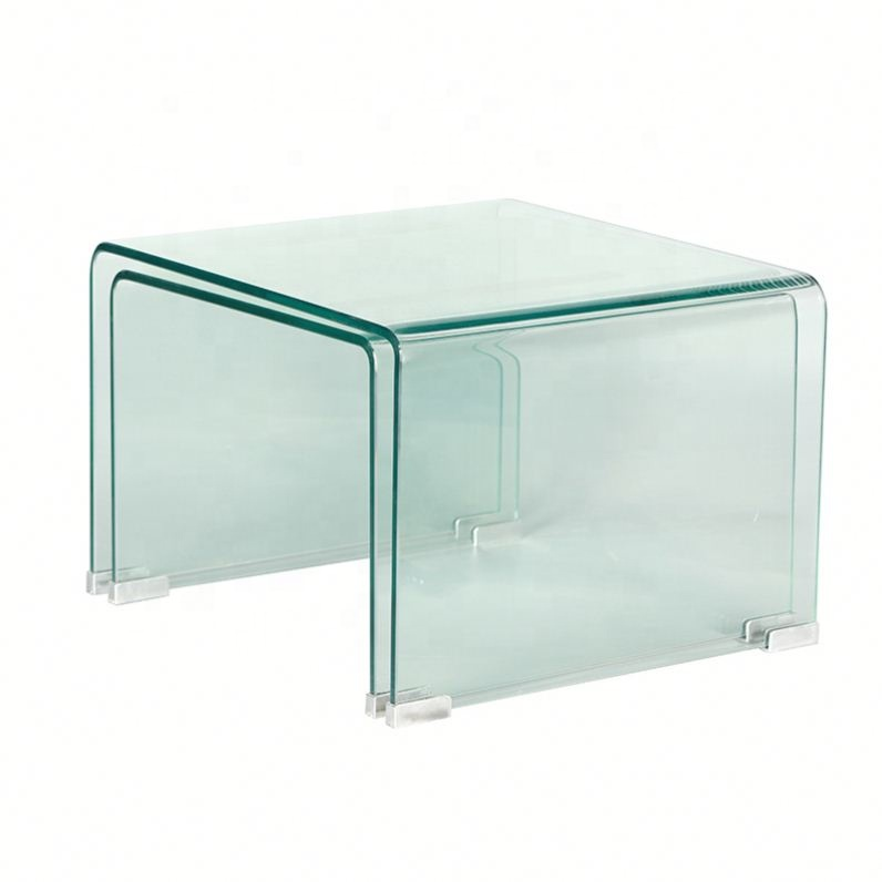 2019 New Product Full Clear Curved Glass Coffee Table Hot Bent Glass 12mm Coffee Table  table top glass price
