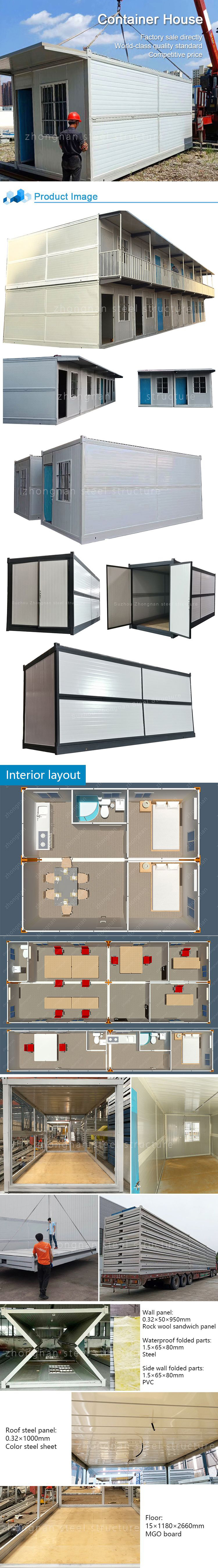 wholesale prefab luxury container cabin house for prefabricated resort hotel building rooms