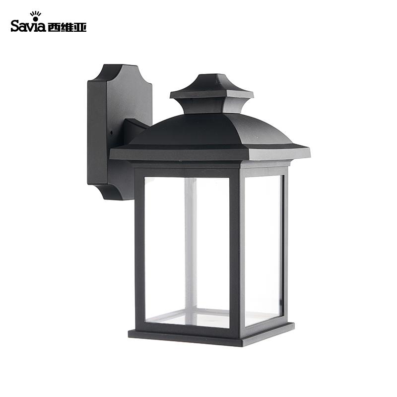 Savia E27 IP44 LED portfolio outdoor exterior wall mount hanging lantern lights for church